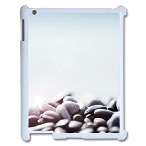 3D Pebbles IPad 2,3,4 2D Cases, Apple Ipad Case Funny Cute Vinceryshop - White