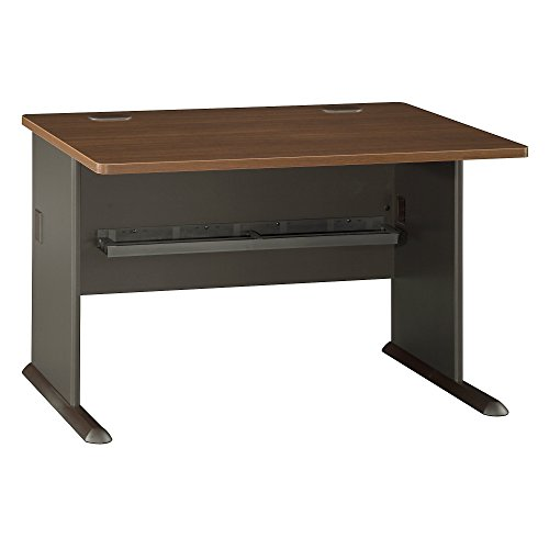 Bush Business Furniture Series A 48W Desk in Sienna Walnut and (American Walnut Base)