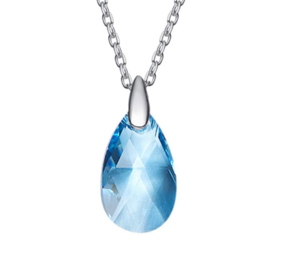 QWERST女性ネックレススターリングシルバー水滴ペンダントファッションエレガントシンプル絶妙なネックレス最高の贈り物   B07MJNR5S1