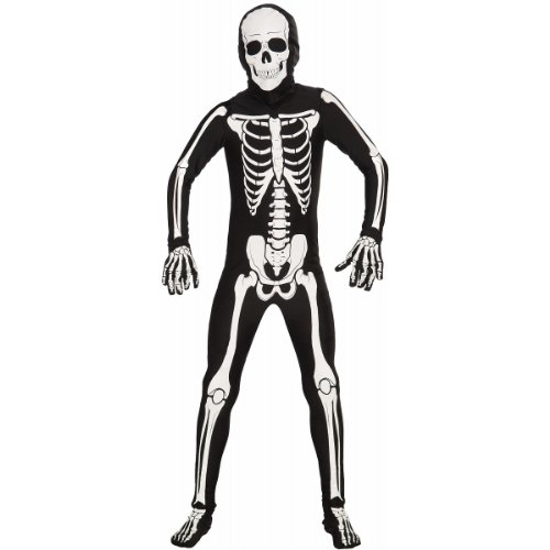 Forum Novelties I'm Invisible Costume Stretch Body Suit, Skeleton, Child Large