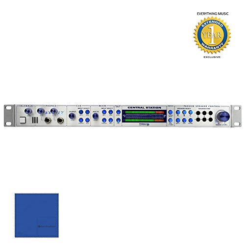 PreSonus Central Station Plus with CSR-1 Central Station Remote, Microfiber and 1 Year Everything Music Extended Warranty (Presonus Equalizer)