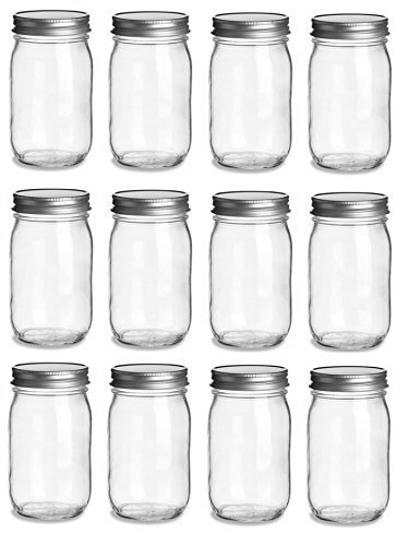 16 ounces mason jars - 8