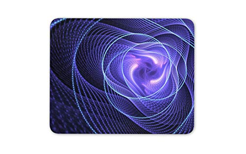 (Neon Purple Vortex Mouse Mat Pad - Spiral Swirl Infinite Computer Gift #16424)