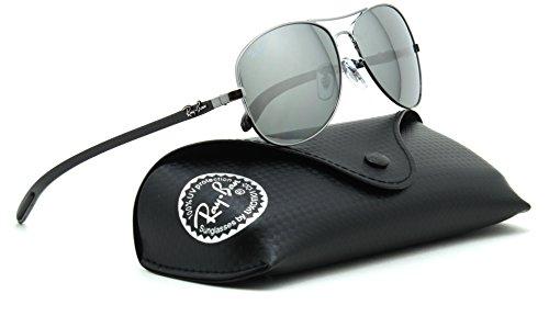 Ray-Ban RB8301 Polarized Carbon Fiber Aviator Sunglasses 004/K6 - 59 (Ray For Sunglasses Rb8301 Men Ban)