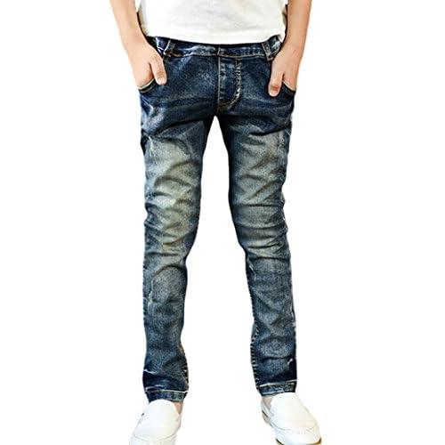 wholesale Tortor 1Bacha Kid Boys' Star Stripe Print Washed Jeans Elastic Waist Denim Pants