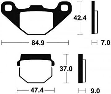 Plaquettes de frein Bendix MO44 M/étal fritt/é