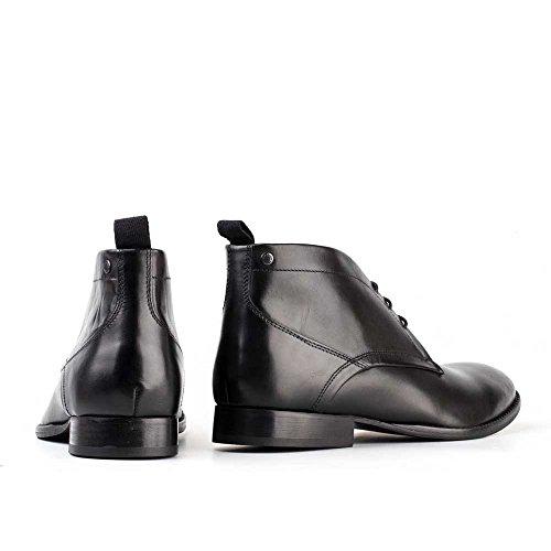 Base London Diakon Wachsartige Herren Chukka Boots Waxy Black