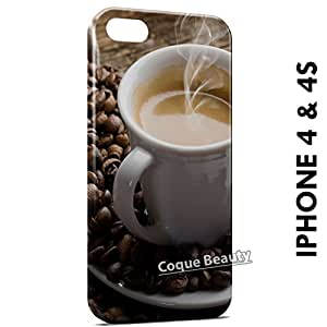 Carcasa Funda iPhone 4/4S Coffee Cup Protectora Case Cover