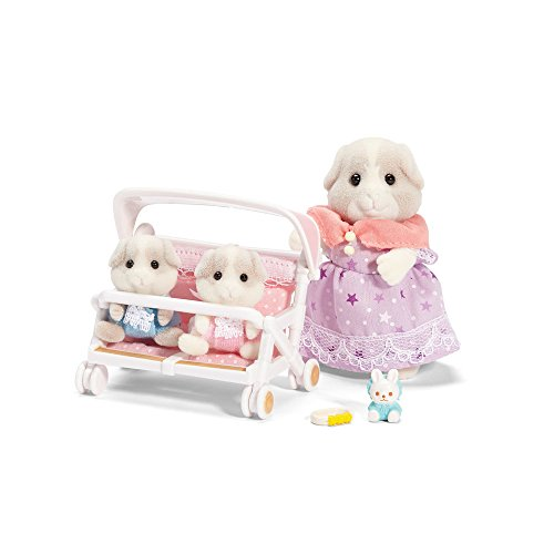 Carriage Works Dash - Calico Critters Patty & Paden's Double Stroller Set