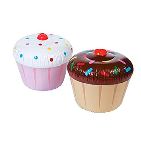 Amazon.com: 3 PC hinchable Cupcakes – varios estilos: Toys ...