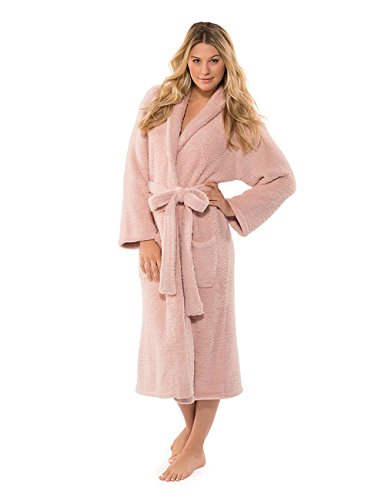 Barefoot Dreams CozyChic Adult Robe (Dusty Rose, 1) by Barefoot Dreams