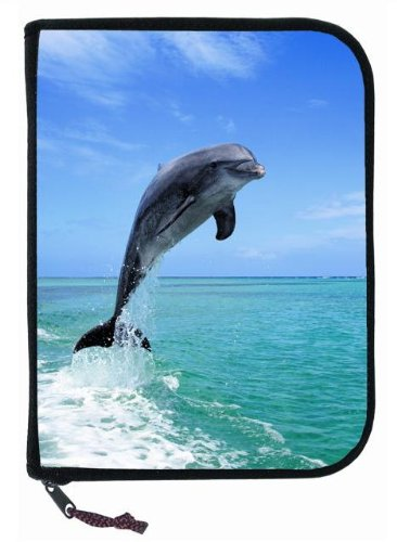 New Scuba Diving 3 Ring Zippered Log Book Binder with FREE Generic Log Insert ($12.95 Value) - Jumping Dolphin (Amphibious Outfitters) ()