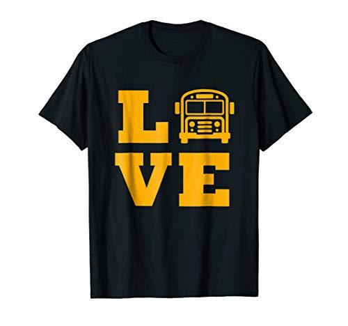 I Love School Buses T-shirt, School Bus Lovers T-shirt