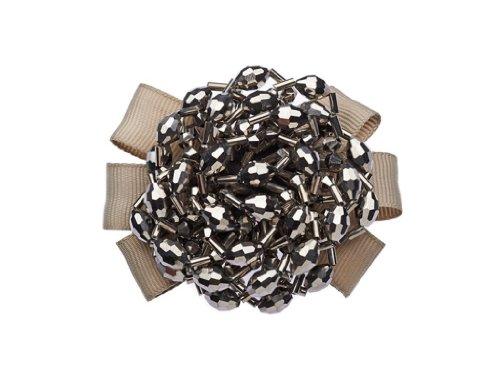 La Loria Damen 2 Schuhclips Circle Schmuck für Schuhe Schuhschmuck Grau-Silber