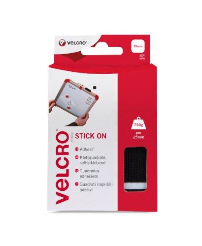 Black Velcro Pack Stick Squares