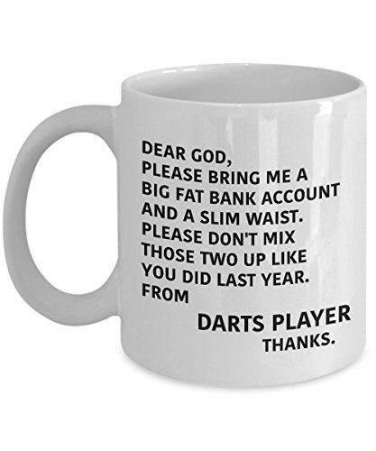 Coffee Mugs For Any DARTS PLAYER/THROWER Sporty