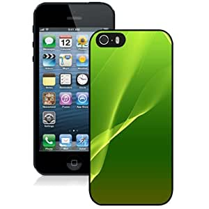 Beautiful Custom Designed Cover Case For iPhone 5s With Green Abstract Lines Phone Case WANGJING JINDA