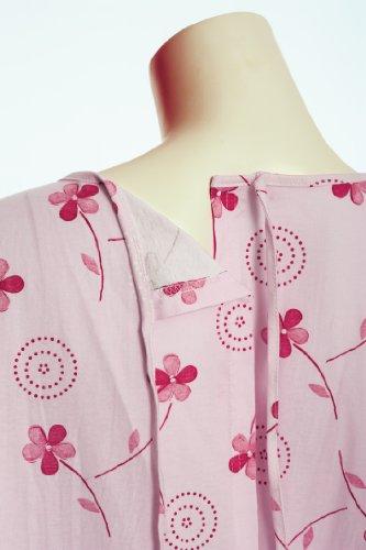 Pflegenachthemd Rückenteil offen / zum binden - Gr. S/M (38-42) - Fb. rosa