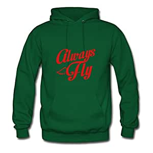 Women Unofficial Vogue Rickwise X-large Customizable Always Fly Green Sweatshirts