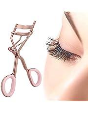 Fashionable Eyelash Curler, rosa uppladdningsbar elektrisk ögonfrans tummehål som gör dina ögonfransar Curling Eye Shapes Rostfritt stål gjorda