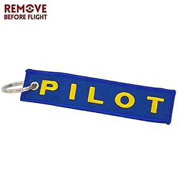 Llaveros de estilo piloto con diseño de cadena de aviación ...