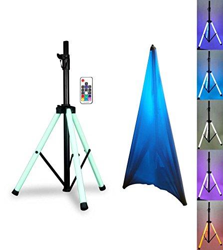 American DJ CSL100 Color Stand LED Tripod Speaker Stand w/LED's+Remote+Scrim