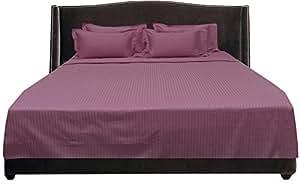 Brightlinen Onion Pink Single (90 X 190 Cm) Sheet Set Stripe (pocket Size: 26 Cm) 6pcs