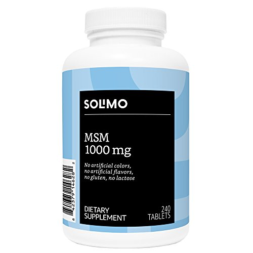 Amazon Brand – Solimo MSM 1000mg, 240 Tablets, Eight Month Supply