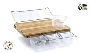 Frankfurter Brett Mono Oak Containerset Clear Plastic