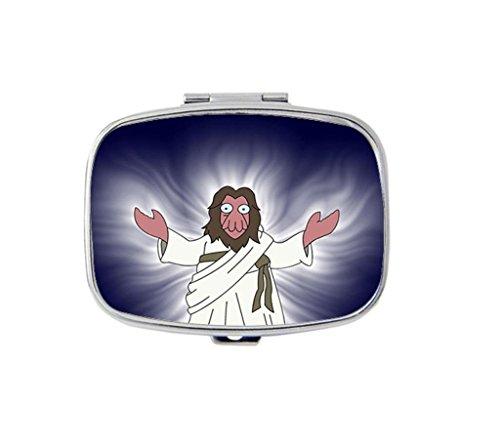 zoidberg-custom-unique-silver-square-pill-box-medicine-tablet-organizer-or-coin-purse
