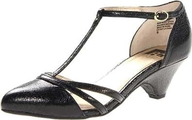 BC Footwear Women's Cool As A Cucumber T-Strap Pump,Black Crackle,10 M US