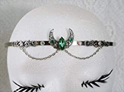 Crescent Moon Circlet handmade jewelry w...
