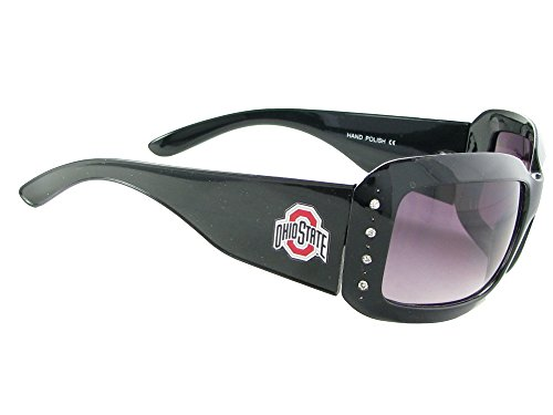 Sports Accessory Store Ohio State Buckeyes OSU Black Fashion Crystal Sunglasses S4JT (Ohio State Buckeyes Crystal)