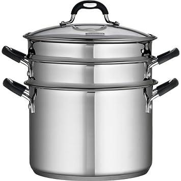 Tramontina 18/10 - Juego de cocina (4 piezas, acero inoxidable de 8 quart): Amazon.es: Hogar