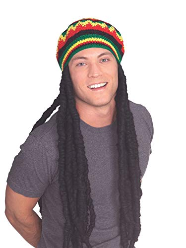 Adult Rasta Dreadlocks Costume Wig with Tam - Tam Jamaican