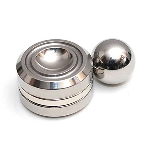 iSpnOmatic –Special Magnetic Steel Ball Orbiter Fingers Synchronisation very Slow Spin Fidget Spinner without Bearing comes with Figet Case for Stress Relief Fidget Toy