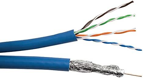 [DIAGRAM_5UK]  Amazon.com: 1x CAT5E 24 AWG UTP + 1x RG6/U Quad Shield Coax BC- (Siamese)-  1000 FT Spool- Blue Distributed by NAC Wire and Cables: Home Audio & Theater   Rg6 Home Wiring      Amazon.com
