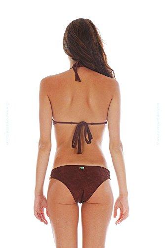 Top de traje de baño triángulo tipo brassiere Yavapai marrón MARRÓN