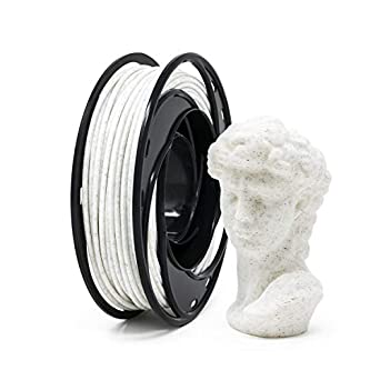Gizmo Dorks Marble PLA 3D Printer Filament 1 75mm 200g, White