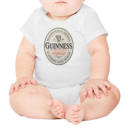 jdadaw Guinness-Extra-Stout-Label- Newborn Boys Girls 100% Cotton Short Sleeve Baby Onesie Newborn Clothes (Label Extra Stout)