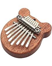 Mini Thumb Piano,Kalimba 8 Keys Marimbas,Portable Wooden Finger Marimbas with Lanyard for Kids and Adults Beginners (A)