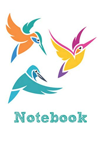 Notebook: Kingfisher Book Notepad Notebook Composition and Journal Gratitude Diary por Retrosun Designs