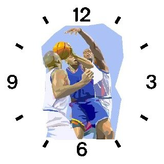 High Action Basketball Art No.3 Basketball Theme - WATCHBUDDY ELITE Chrome-Plated Metal Alloy Watch with Metal Mesh Strap-Size-Large ( Men's Size or Jumbo Women's Size )