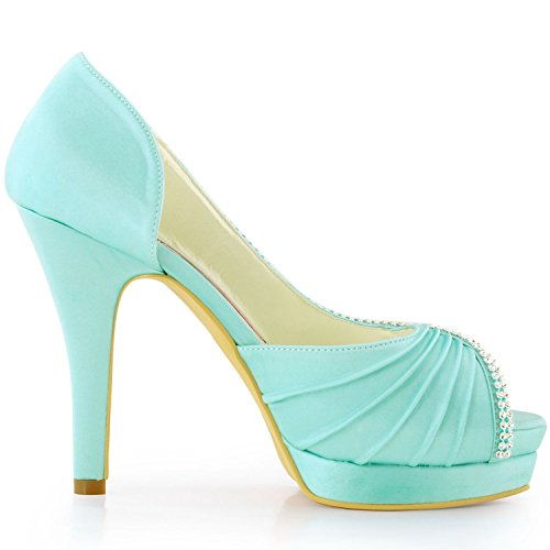Femme Turquoise Chaussures Mariage Minitoo De Tendance Z8IxdqX7