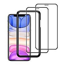 2枚入り iphone 11 / xr 用 強化 ガラスフィルム 6.1 インチ 全面保護...
