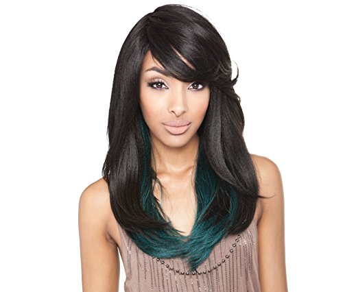ISIS Brown Sugar Human Hair Blend Full Wig - BS110 (1B - OFF BLACK)