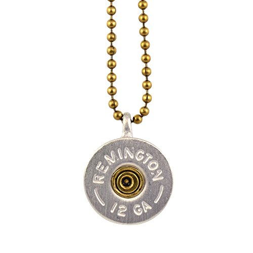 Southlife-Lizzy-Js-Vintage-Silver-Plated-12-Gauge-Shotgun-Bullet-Shell-Pendant-Necklace