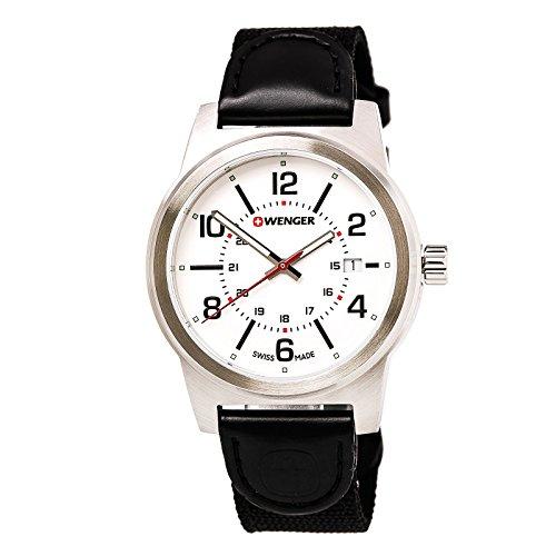 Wenger Men's Field Gear Stainless Steel Swiss-Quartz Watch with Nylon Strap, Black, 20 (Model: 01.0441.162)