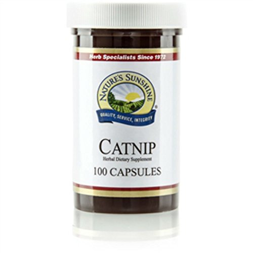 Nature's Sunshine Catnip Herbal Dietary Supplement Supports Both the Nervous and Immune Systems 100 Capsules Each(pack of 2)