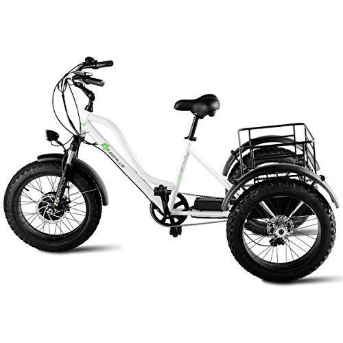 Goplus Electric Trike 20 Quot Fat Tire 500w Electric Tricycle